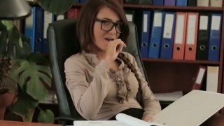 Alexis Brill Seduces The Marketing Manager In The Office