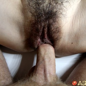 Hairy pussy fucked up close