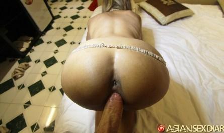Hot Horny Asian with tiny ass doggy style fuck