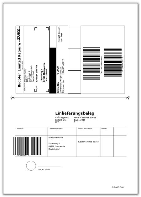 DHL-Aufkleber für Pakete online ausdrucken - so funktioniert's