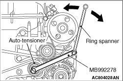 ALTERNATOR DRIVE BELT AUTO-TENSIONER CHECK
