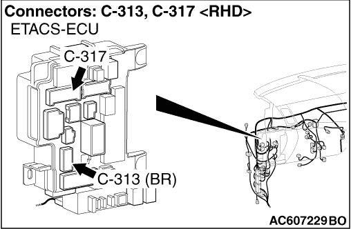Code No. P0705: Malfunction of Inhibitor Switch