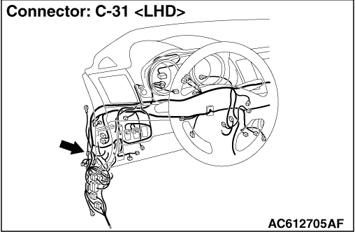 Code No. C1032 Abnormality in RR wheel speed sensor signal