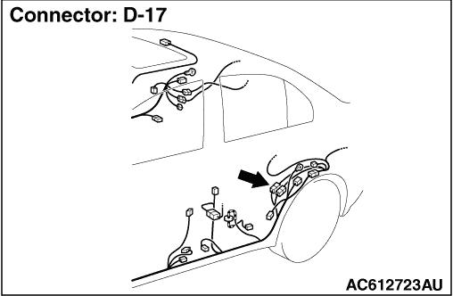 Code No. C1020 Abnormality in RL wheel speed sensor circuit