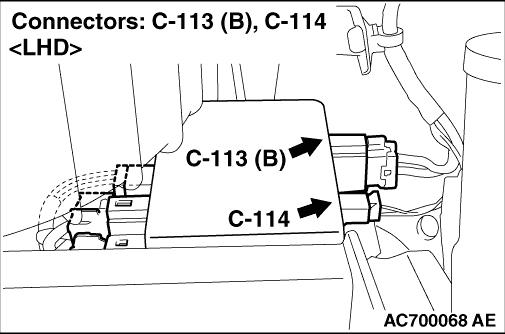Code No.C1541 Power supply voltage abnormality (low voltage)