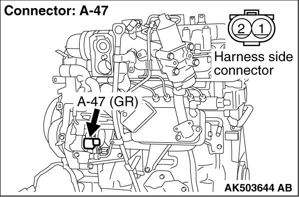 Code No. P0628: Suction Control Valve Open