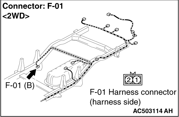 Code No.C1200: Front Right Wheel Speed Sensor (Open