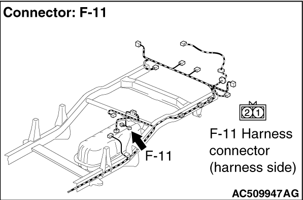 Code No.C1216: Wheel Speed Sensor (RL) System (Sensor