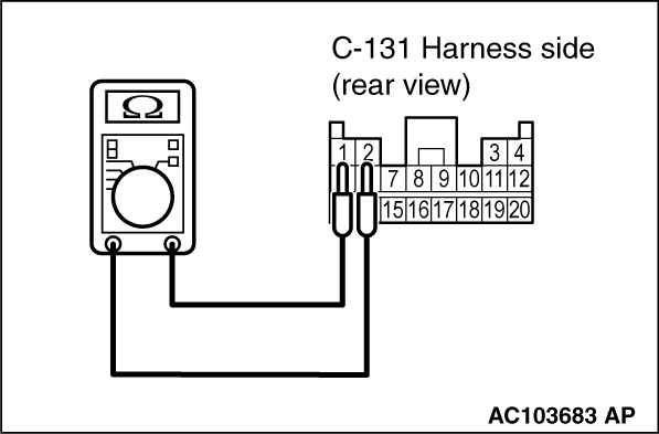 Code No.B1595 Front impact sensor RH system (short circuit