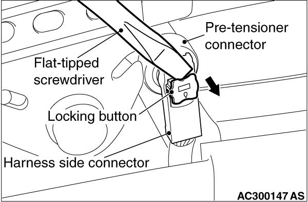 Code No.B1604: Seat belt pre-tensioner (driver's side