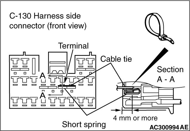 Code No.B1609: Seat belt pre-tensioner (passenger's side