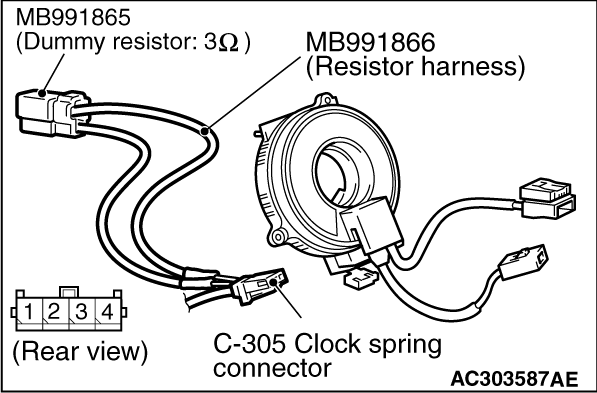 Code No.B1402: Driver's air bag module (squib) system