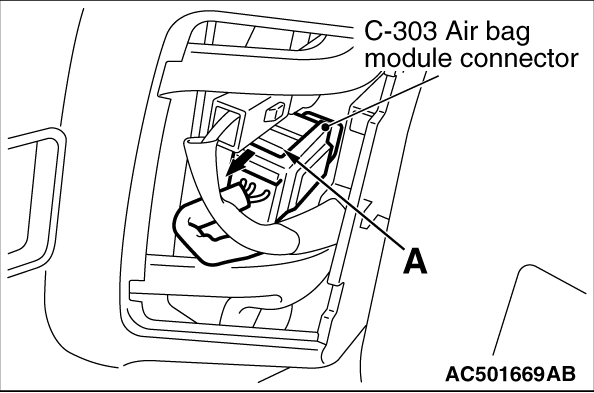 Code No.B1401: Driver's air bag module (squib) system