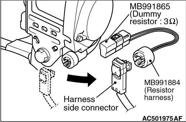 Code No.B1604: Seat belt pre-tensioner (driver's side