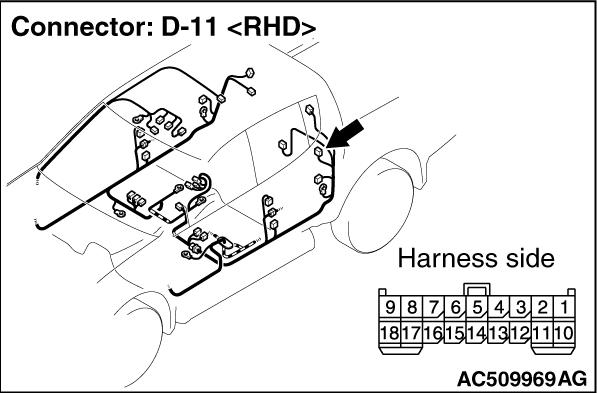 Code No.U1512: Rear panel power window-ECU time-out