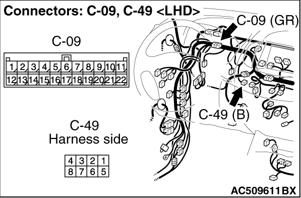 Code No.B1045: Motor drive system for the air mixing damper