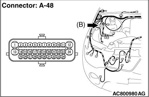 Code No.C1205: Wheel speed sensor (FL) (signal open circuit)