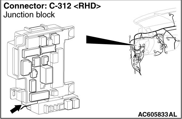Code No. C1009 Low brake fluid level