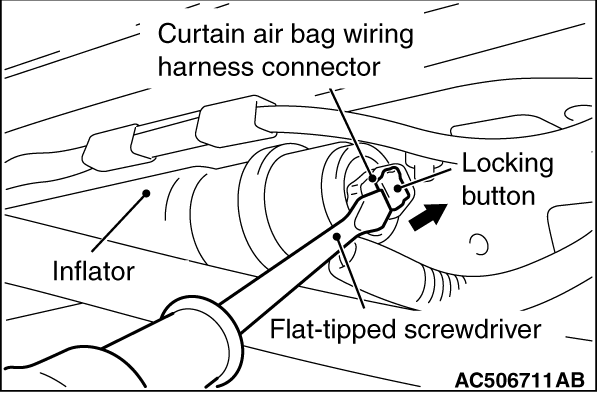 CODE NO. B1B23 Right curtain air bag module (squib) system