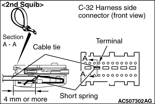 CODE NO. B1B03 Driver's air bag module (1st squib) system