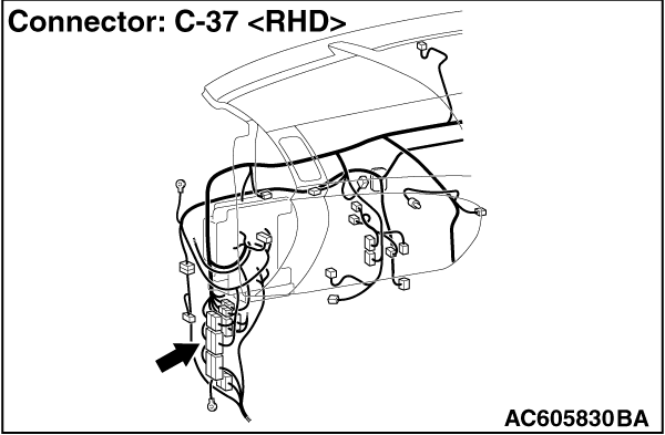 CODE NO. U0171 Right front impact sensor communication error