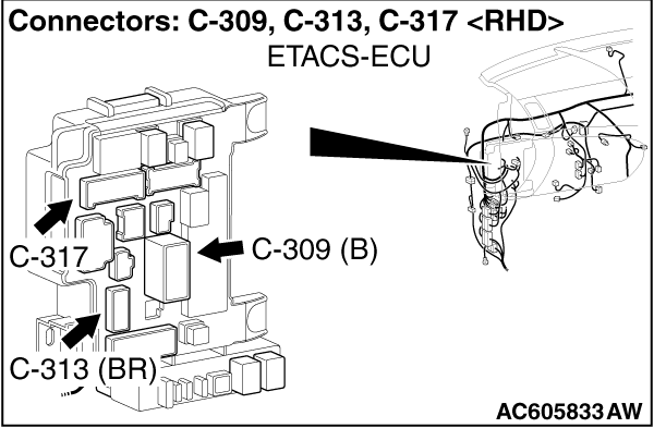 CODE NO. B212C IG1 power supply open circuit (fuse No. 12