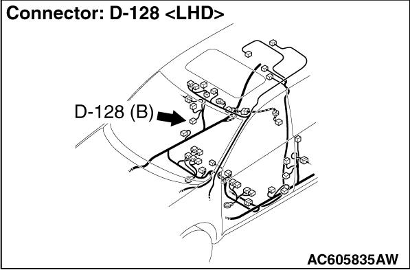 CODE NO. B1C49 Front passenger's pre-tensioner (squib