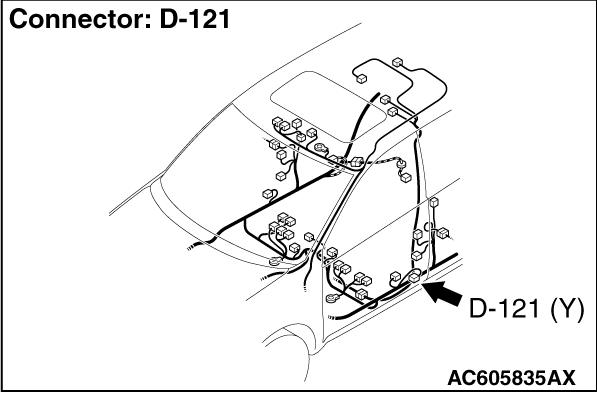 CODE NO. U0173 Left side impact sensor (rear