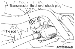 TRANSMISSION FLUID LEVEL CHECK