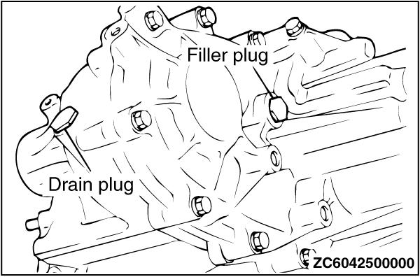 B9. CHANGE GEAR OIL IN TRANSFER CASE (4WD)