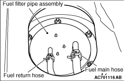 FUEL FILTER PIPE ASSEMBLY REPLACEMENT