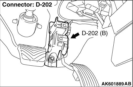 Code No. P2122: Accelerator Pedal Position Sensor (Main
