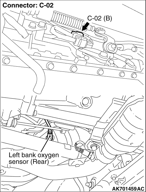 Code No. P0158: Left Bank Oxygen Sensor (Rear) Circuit