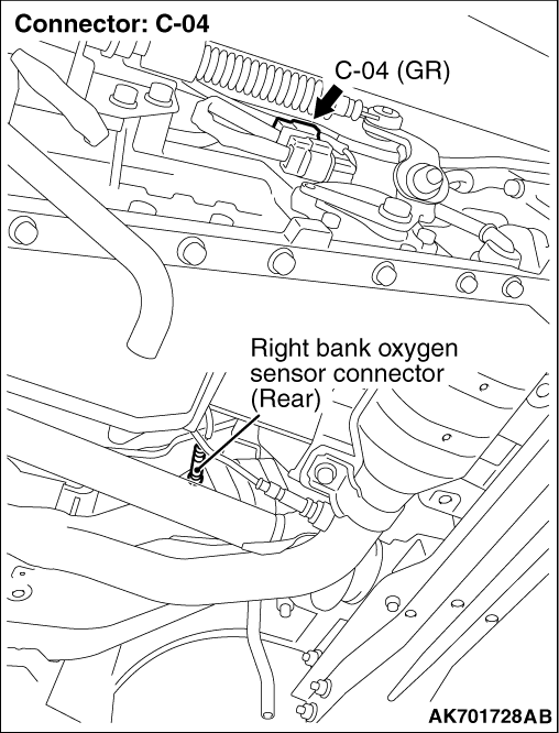 Code No. P0141: Right Bank Oxygen Sensor (Rear) Heater System