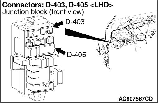 Code No.54: Motor relay system (open circuit, short