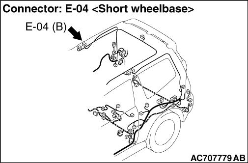 Code No.B1441: Curtain air bag squib (RH) open-circuited