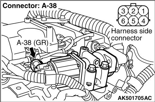Code No. P0405: EGR Valve Position Sensor Circuit Low Input