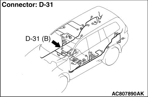 Code No.C1210: Wheel speed sensor (RR) system (open circuit)