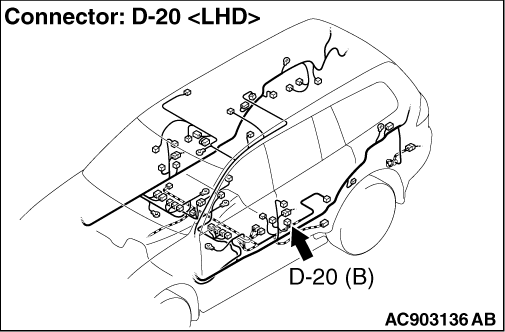 Code No.B1606: Seat belt pre-tensioner (driver's side