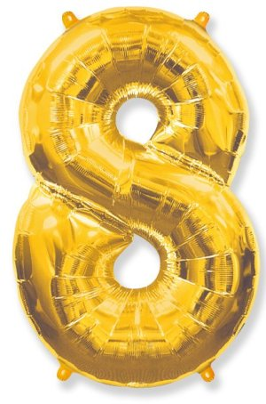 "Large foil balloon number ""8"""