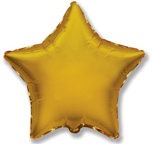 Foil balloon with helium – Star – Solid Gold – 80 cm | Faraday Helium Balloons in Geneva