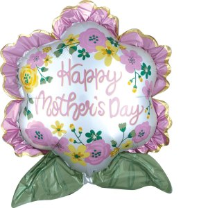 Happy Mother's Day Satin Flower Balloon