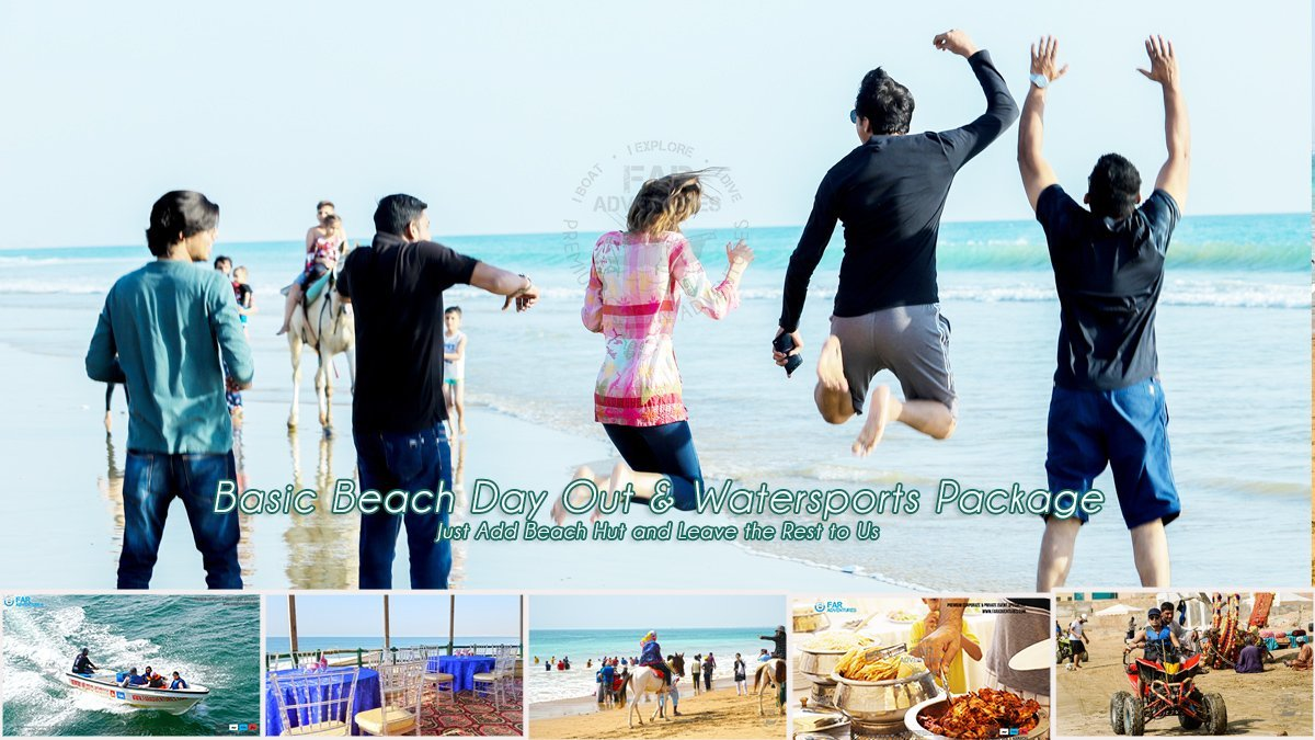 Basic Beach Day Out & Watersports Package