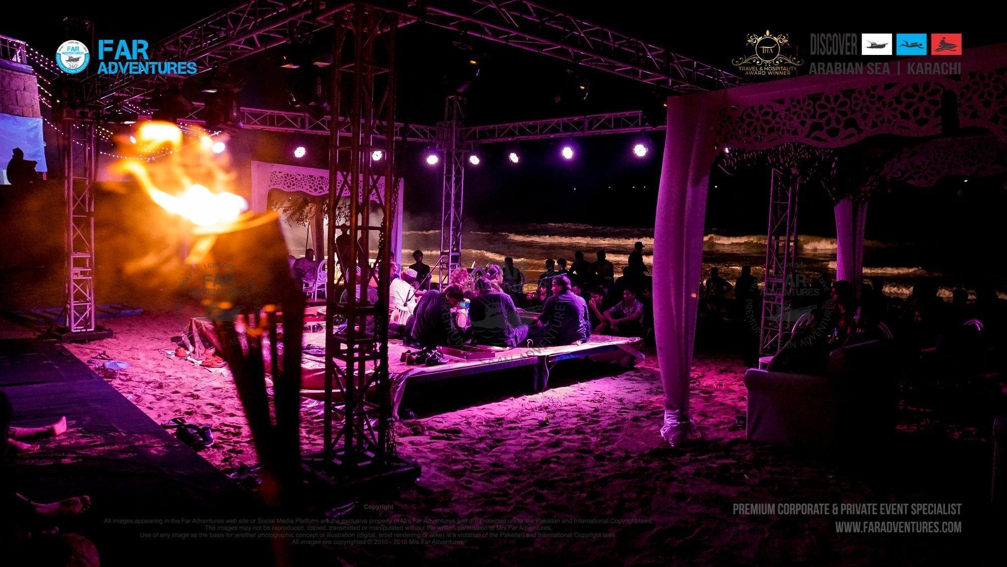 Beach Corporate and Family Qawali Night with Faraz Sabri