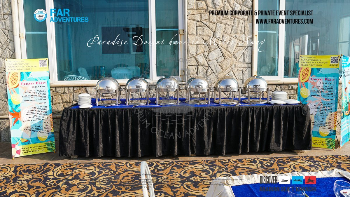 Exclusive Beach Setup   Corporate Dayout Beach Event Setup   Family Private Event