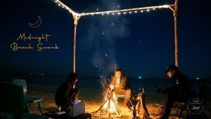 Mid Night Beach Swank - Moonlight - Bonfire - Tea - Chilling Winter Night
