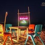 tropical beach dinner night couples swank