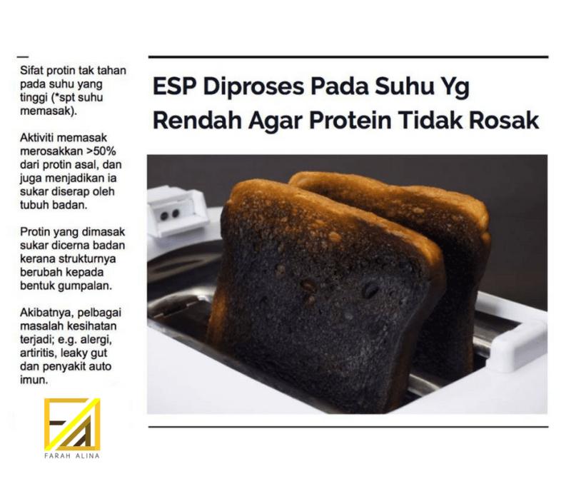 ESP diproses pada suhu yang rendah