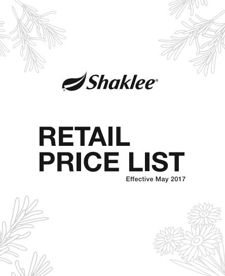 harga shaklee 2017