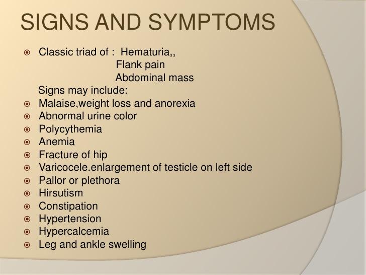 Kidney Cancer Signs Of Kidney Cancer Kimaja Farwani